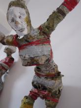 Dancer detail  wire-paper-glue-paint-thread  2011