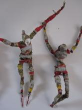 Dancers  wire-paper-glue-paint-thread  2011