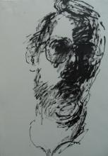 Self portrait - pen and Ink - 2002