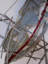 Scaffolded Boat - wire-wood-paper-glue-paint 2009