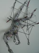 Falling Man - wire-paper-glue-paint-string  2009